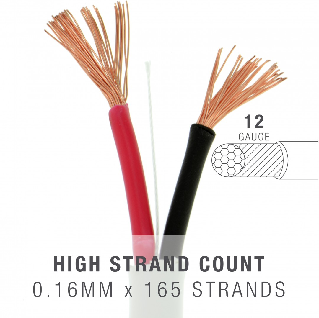 Shop new 12awg 2 conductor speaker wire 500 feet 999 oxygen high strand count pure oxygen free copper greentooth
