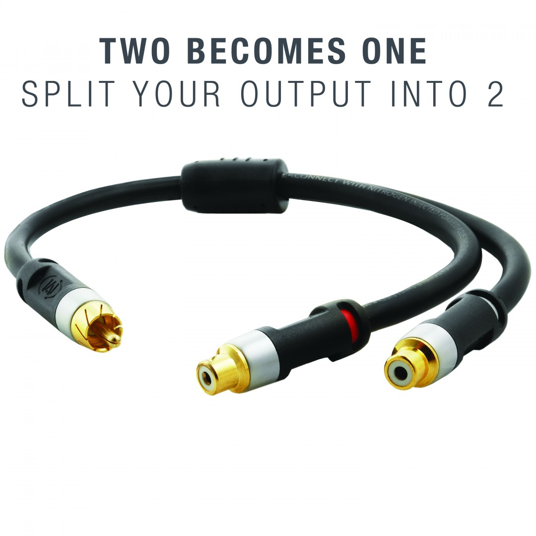 Shop New Ultra Series Rca Y Adapter 1 Male To 2 Female