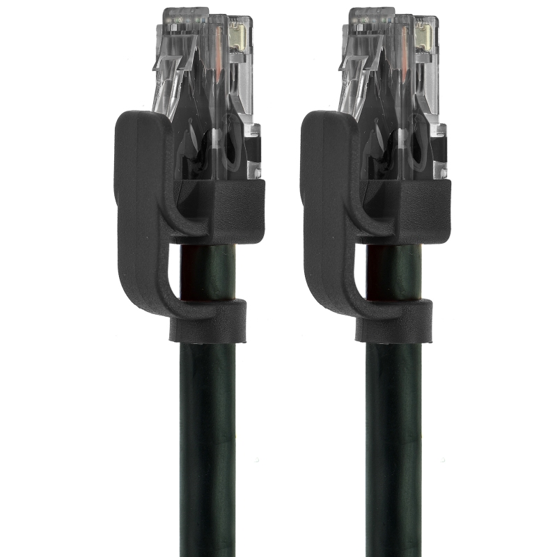 Ultra Series Cat6 Ethernet Cable - RJ45 Computer Networking Cord (Black - 1 Feet) 5 Pack