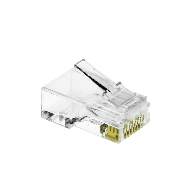 Cat6 Connector (Clear) - RJ45 Plug for Cat6 Ethernet Cable - 8P8C 50UM - 50 Pack (Part# 51P-C6-50PK ) (50 Pack) 50 Pack