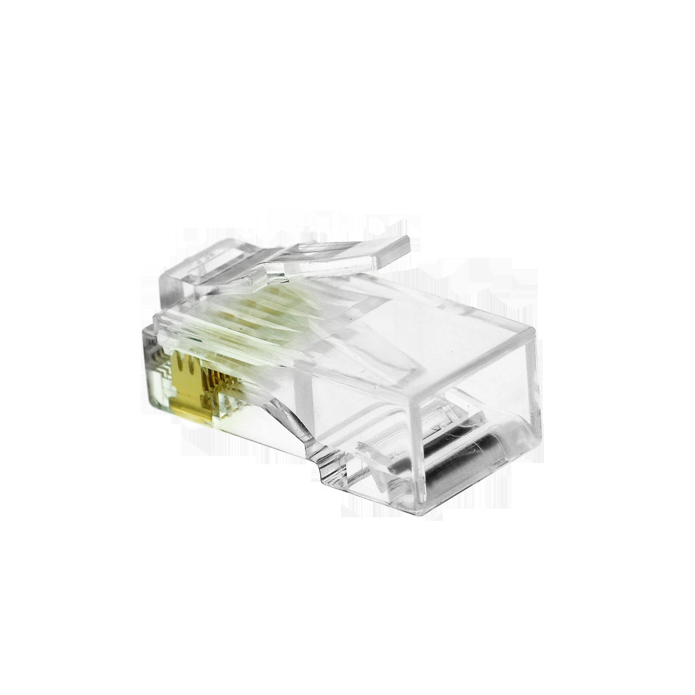 Shop New Cat6 Connector Clear Rj45 Plug For Ethernet Cable Wiring 8p8c 50um 50 Pack Part 51p C6 50pk