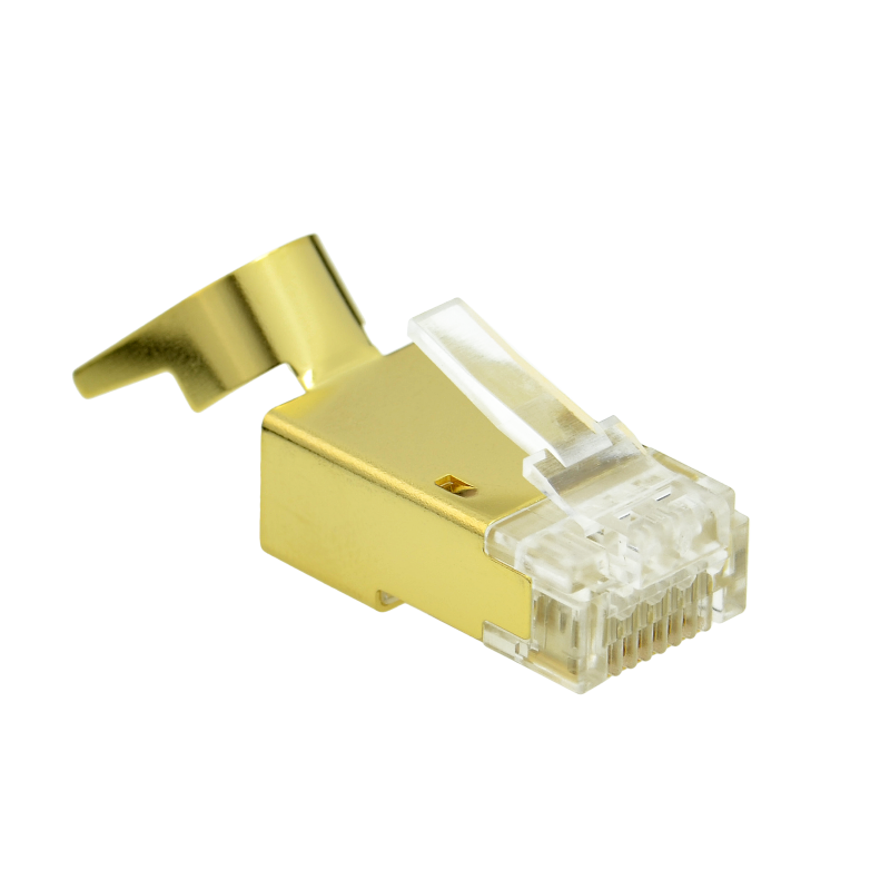 Cat7 Connector (Gold Shielded) - RJ45 Plug for Cat7 Ethernet Cable - 8P8C 50UM - 30 Pack (Part# 51P-C7-30PK ) (30 Pack) 30 Pack
