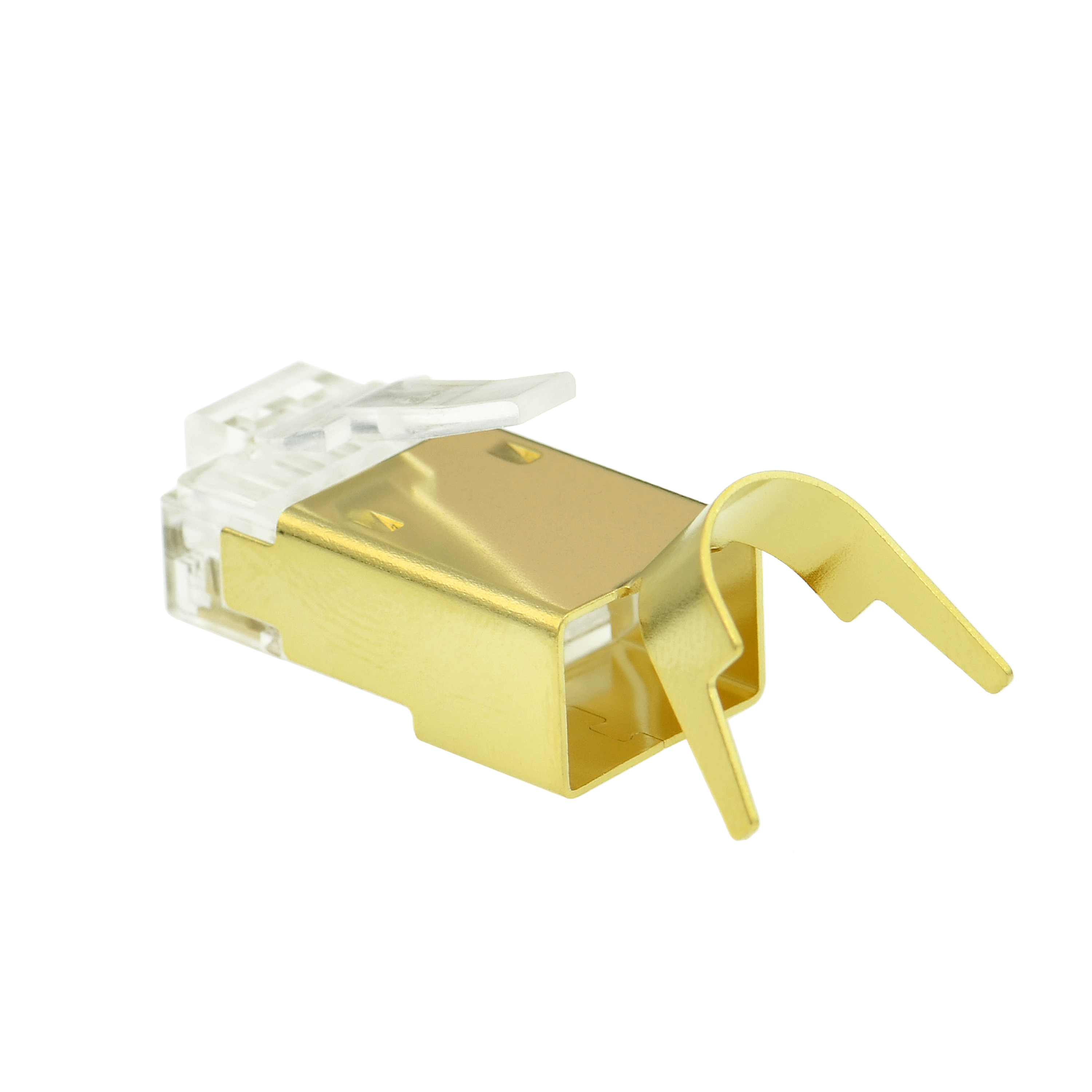 Shop New Cat7 Connector (Gold Shielded) - RJ45 Plug for Cat7 ...