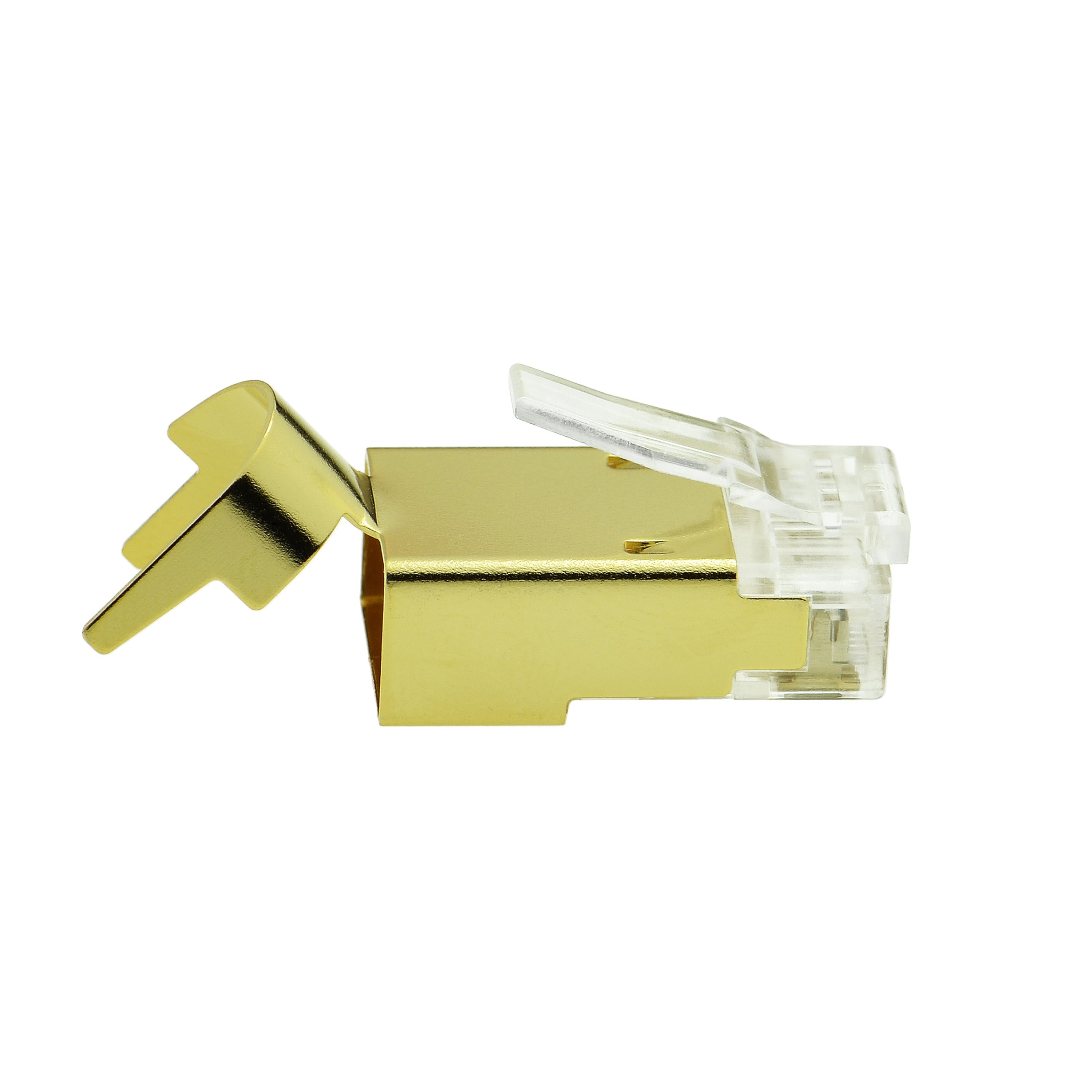 Shop New Cat7 Connector Gold Shielded Rj45 Plug For Wiring My Home Ethernet Cable 8p8c 50um 30 Pack Part 51p C7 30pk