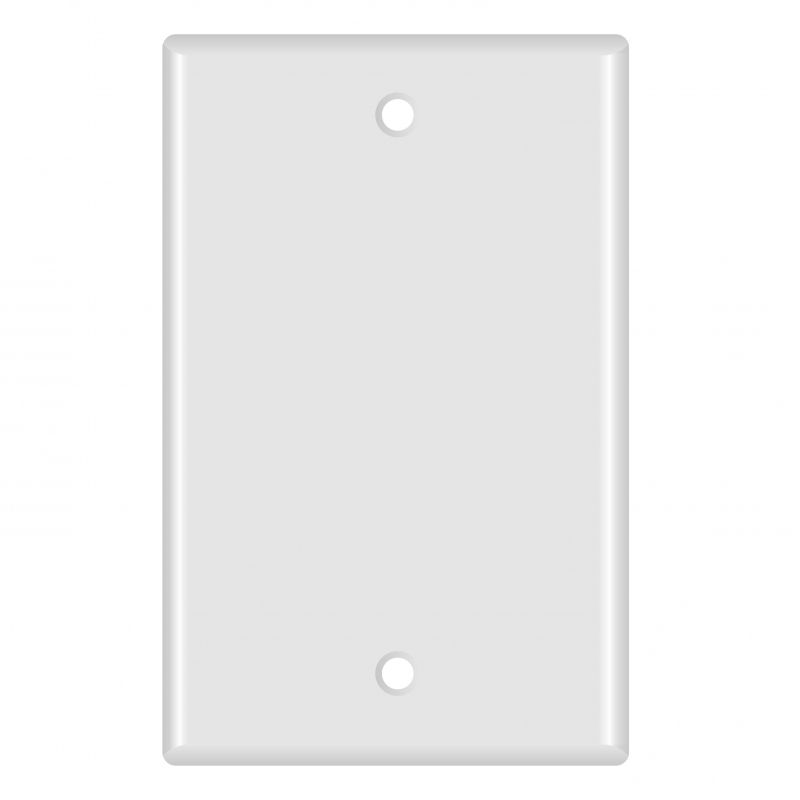 Blank Wall Plate (White) - 5 Pack (Part# 51W-100-5PK ) (Blank) 5 Pack