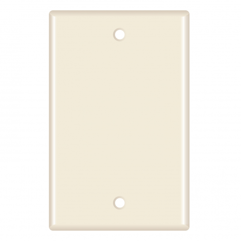 Blank Wall Plate (Almond) - 10 Pack (Part# 51W-200-10PK ) (Blank) 10 Pack