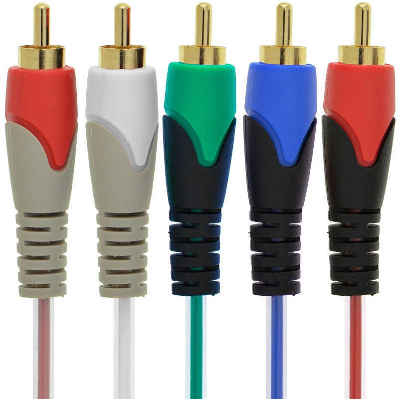 Component Video Cables with Audio (12 Feet)