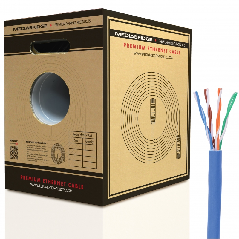 Cat5e Ethernet Cable (1000 Feet) (Blue - 1000 Feet)