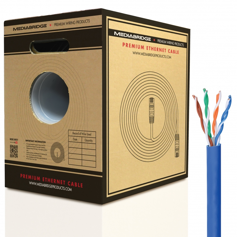 Cat6 Ethernet Cable (1000 Feet) (Blue - 1000 Feet)