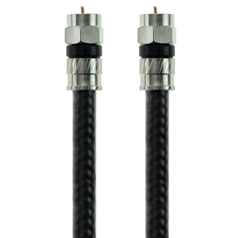 Coaxial Digital A/V Cable - CL2 Rated - Tri-Shielded F-Pin to F-Pin (Black - 100 Feet)