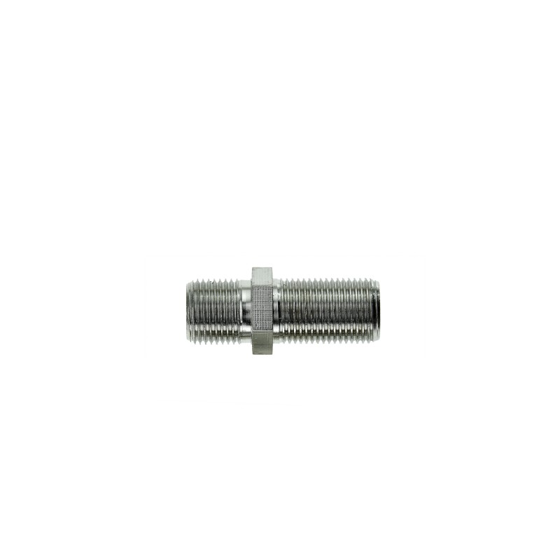 F81 Connector - 3GHz Female to Female F-Type Adapter (Nickel-Plated) 5 Pack
