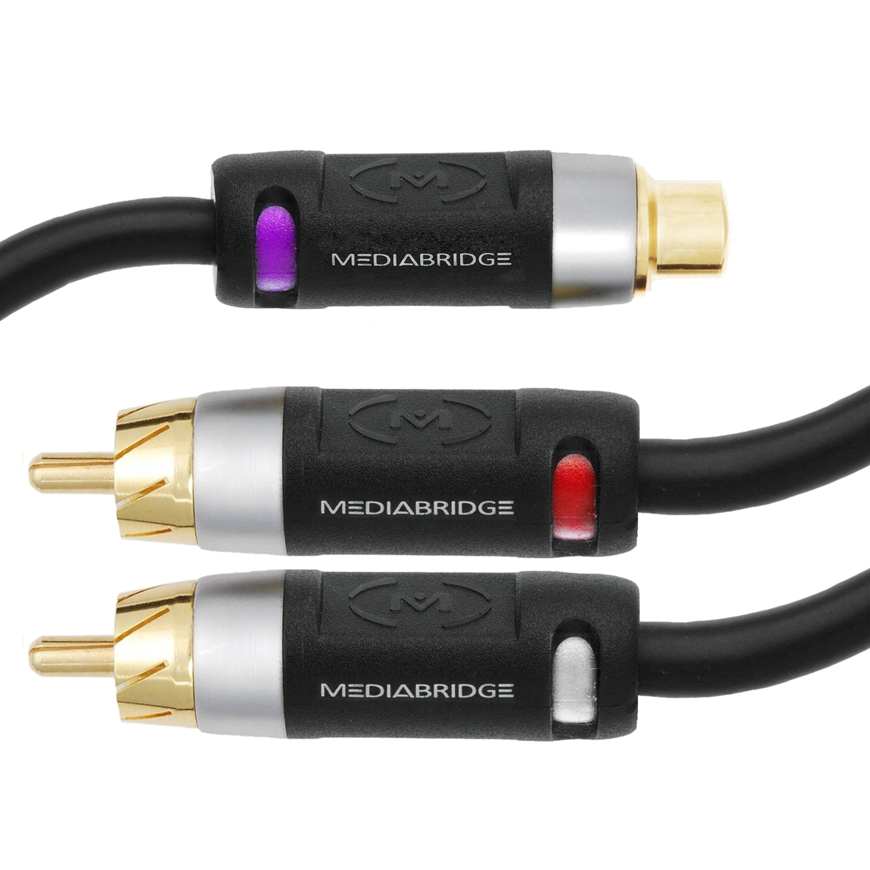 Shop New ULTRA Series RCA Y-Adapter - 1-Female to 2-Male ...