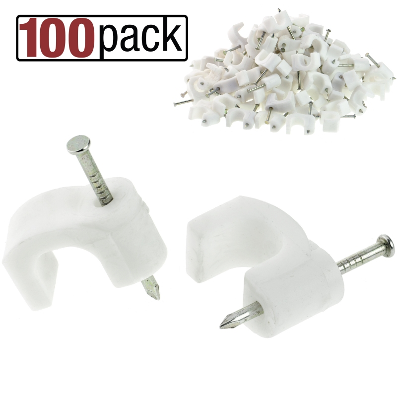 Cable Clips (10MM (White)) 100 Pack
