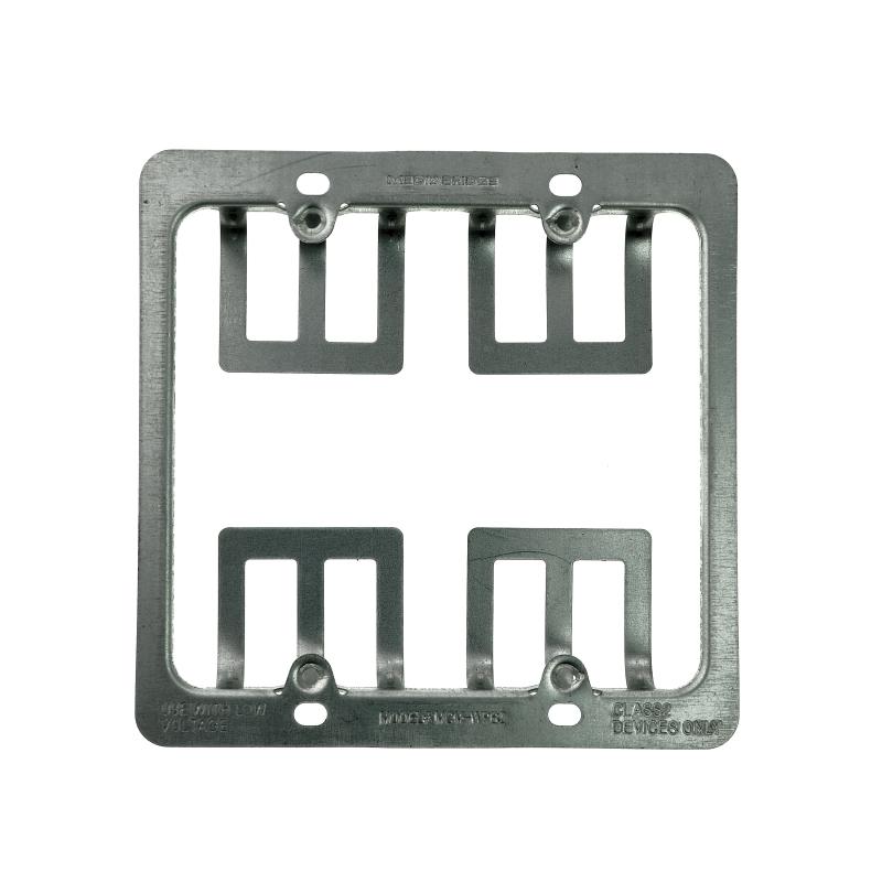 Low Voltage Metal Mounting Bracket - 2 Gang (2 Gang) 5 Pack