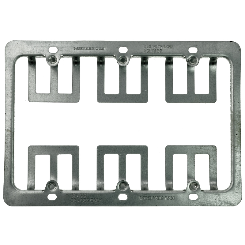 Low Voltage Metal Mounting Bracket - 3 Gang (3 Gang) 10 Pack