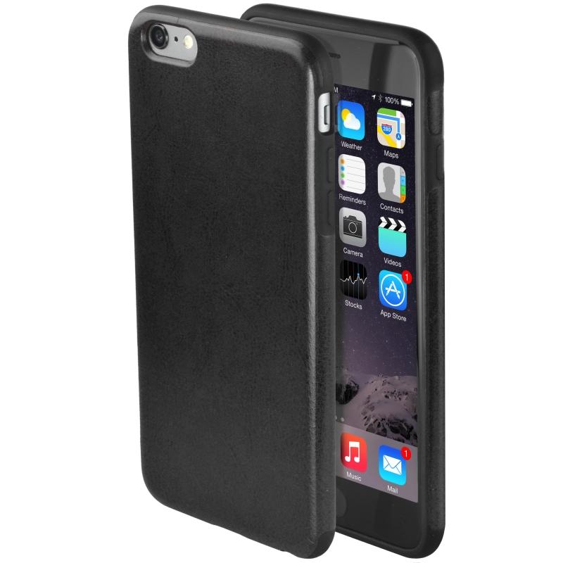Premium Synthetic Leather iPhone 6 Case - Black (Black)