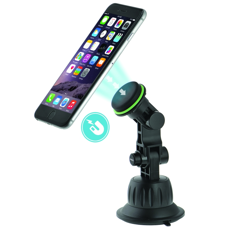 Magnetic Phone Holder with Extended Suction Cup Mount - Windshield & Dash Mount (Part# PC3SM3 )