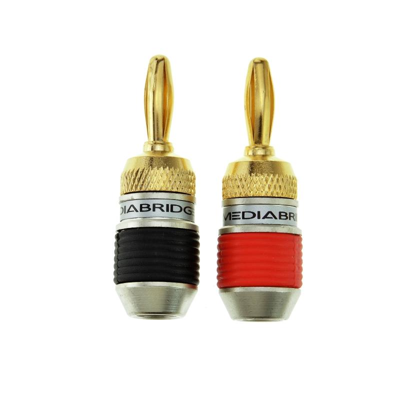 ULTRA Series Fast-Lock Banana Plugs (12 Pair) 24 Pack