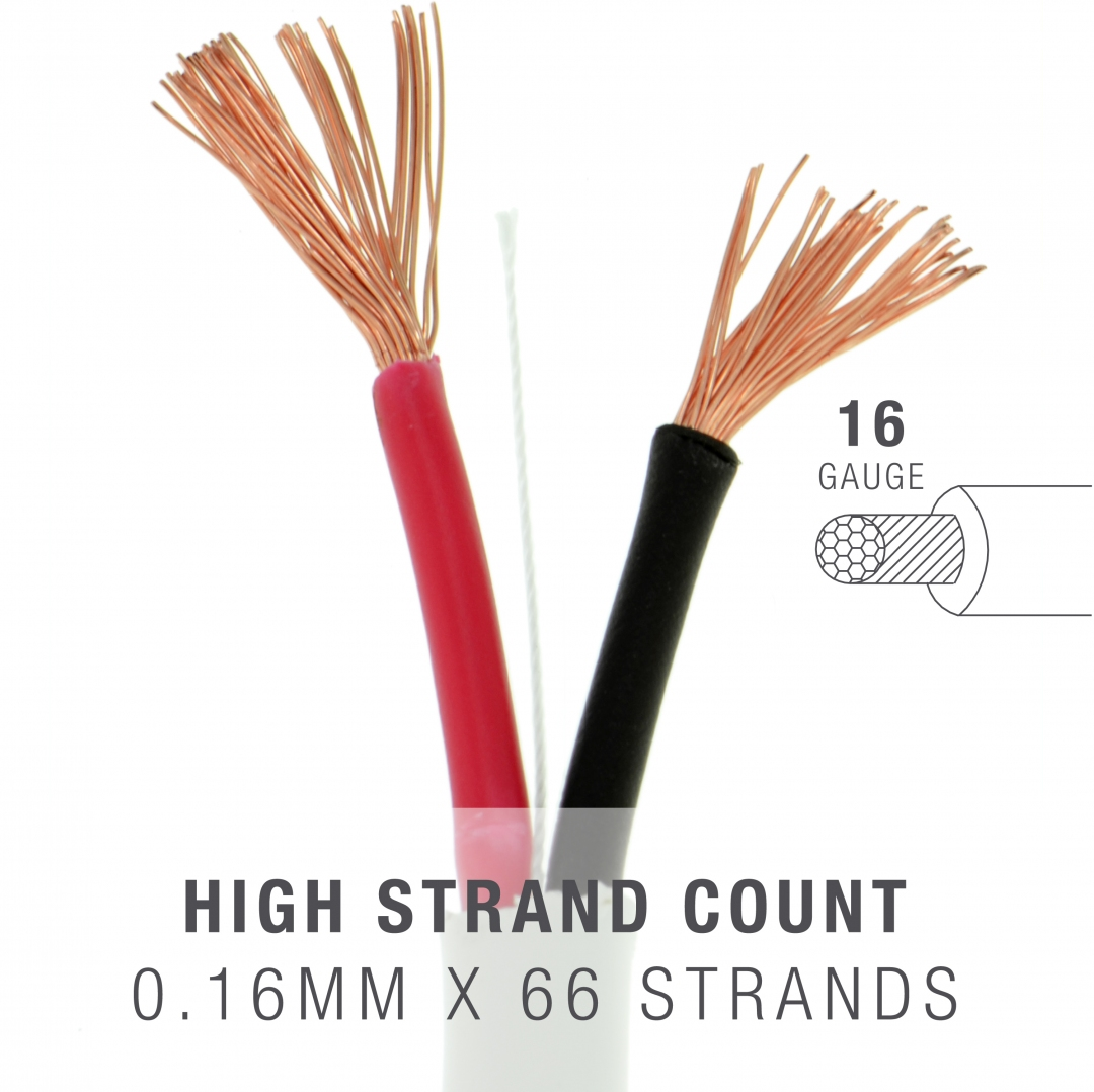 Shop New 16AWG 2-Conductor Speaker Wire (500 Feet) – 99.9% Oxygen ...