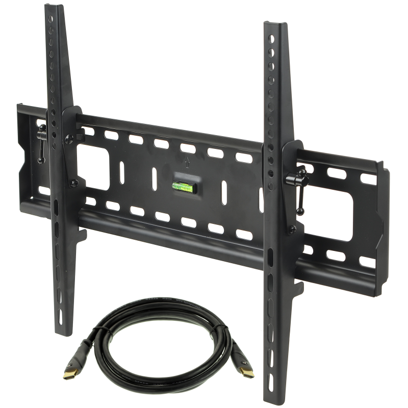 """Tilting TV Wall Mount with 6FT Mediabridge HDMI Cable, TV Bracket Fits Most 37"""" to 70"""" TVs up to 165 LBS, VESA Compliant"""