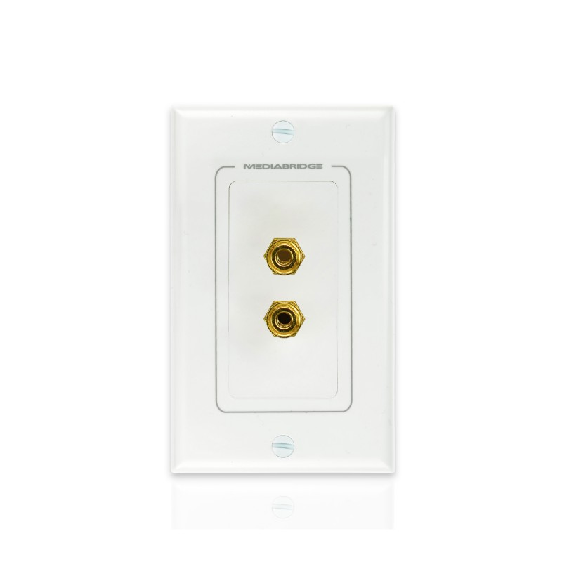 Wall Plate with Banana Plugs (1 Pair) (Banana Plugs (1 Pair))