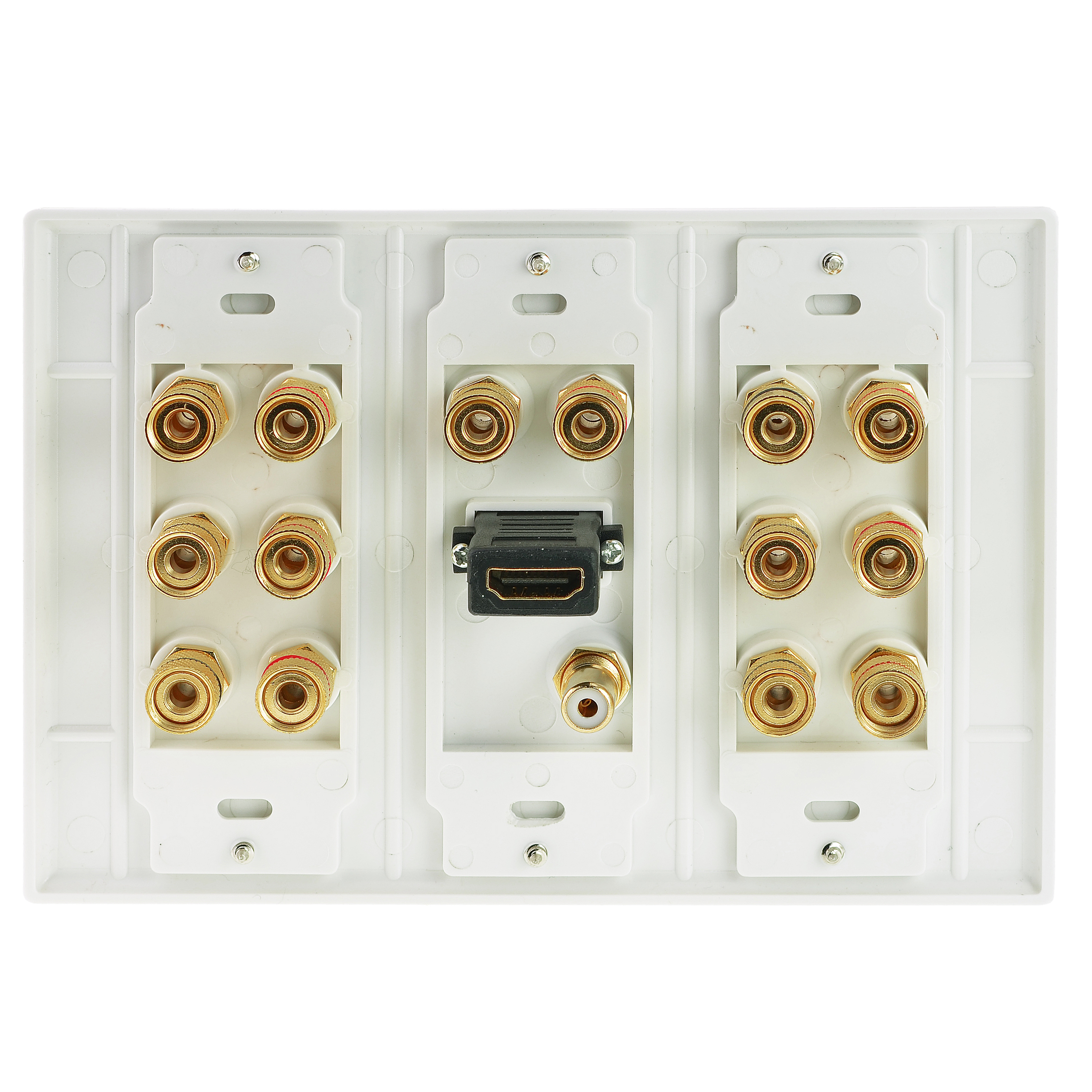 Home Theater Wall Plates shop new wall plate with banana plugs (7 pair), subwoofer (1 port